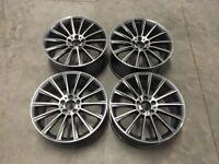 19″ Staggered C Class AMG Twist Style wheels Gun Metal /Machined VW Audi / Mercedes – 5×112