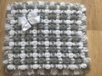 Beautiful Hand Made With Love Pom Pom Blankets