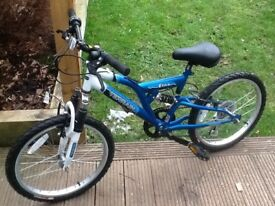 """16"""" Etne Terraine Bike. Blue and White in colour. Hardly used."""