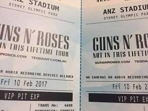 Guns N Roses VIP Pit Experience 10th Feb 2017 (1 or 2 tickets) Sydney City Inner Sydney Preview