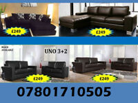 SOFA BRAND NEW SOFA RANGE CORNER AND 3+2 LEATHER AND FABRIC ALL UNDER £250 04365