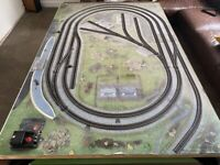 Hornby 00 train layout 1.2 x 1.8m - boxes of spares parts, track, rolling stock