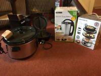 Job lot Slow cooker, Steamer, Omelette Maker and Soup Maker