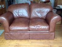 Laura Ashley Sofa 2 seater dark brown leather