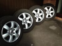 Genuine Vw Alloy wheels and tyres.