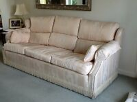THREE SEATER SETTEE, TWO SEATER SETTEE AND FOOT STOOL