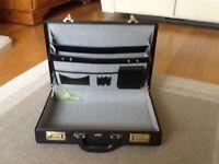Black Antler briefcase with combination locks
