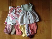 Girls 0-3 months clothes bundle 40 piece