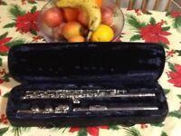 Silver plated flute Trevor James tj10x11