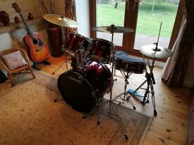 Mapex Tornado Rock Drum Set with Paiste 101 brass cymbal set, stands, bags and Vic Firth pads