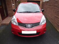 2009 NISSAN NOTE 1.4........ONE OWNER FROM NEW......FULL MOT....0NLY 47000 MILES