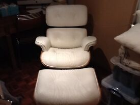 Charles Eames chair and ottoman.