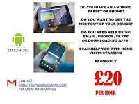 Android tablet/phone lessons