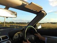 MG convertible, good runner, British racing green