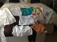Bundle of girls shorts and t shirts 8-9 years