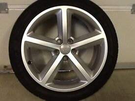 18INCH 5/112 GENUINE AUDI S-LINE ALLOY WHEELS WITH NEW TYRES FIT VW SEAT ETC EXCELLENT CONDITION