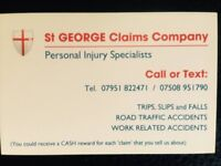 St GEORGE CLAIMS COMPANY Personal Injury Specialists