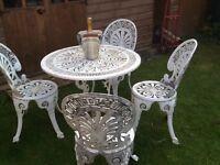 Lovely Ornate Metal Garden Furniture Set - £80.00 Bargain