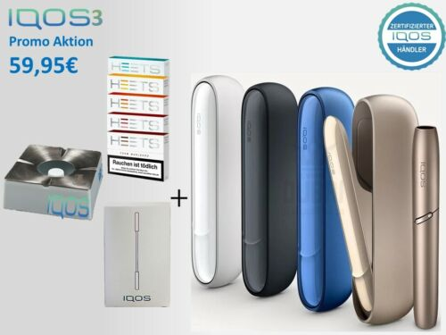 IQOS 3.0 / Starter Kit- Brilliant Gold / Stellar Blue / White / Grey + 100 HEETs