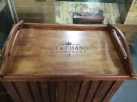 Laser Engraved Moet & Chandon Champagne Tray