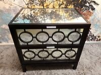 Marriott Mirrored Bedside Table - House Of Isabella London
