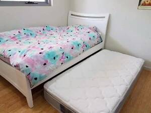 Bed with King Single Mattress plus single mattress Botany Botany Bay Area Preview
