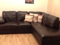 corner couch brown leather