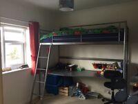 Ikea Svarta Loft Frame bed frame and desk only
