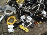 Mobile phone charging leads, scart leads and more.....