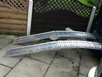 FOLDING ALUMINIUM RAMPS QUAD BIKE OR OTHER EQUIPMENT FOR VAN OR TRAILER