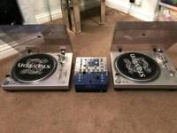 2 x Stanton STR8-30 deck and Numark DXM06 mixer