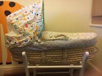 Mothercare Moses basket and mattress