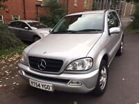 2004 Mercedes ML 270 cdi Auto Silver 4x4 jeep