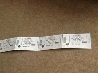 4 Stone roses tickets