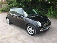 Mini Cooper, 51 reg, Black, 129K, MOT, drive away part ex vehicle