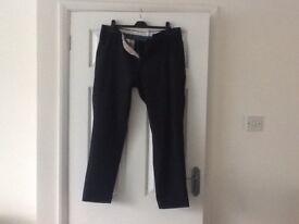 Men's navy Next trousers