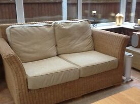 2 seater wicker conservatory sofa