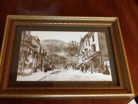 Framed black and white print of Malvern