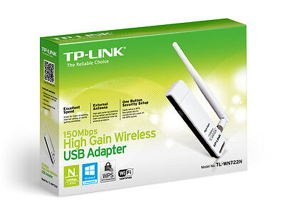 TP-Link TL-WN722N N150 150Mbps High Gain Wireless USB Adapter  Version 2.10