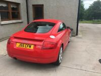 Beautiful red Audi TT. Numberplate not for sale