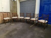 Younger Toledo dining chairs - set of 6, two of which are carvers. In excellent condition.