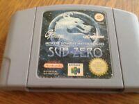 N64 game mortal combat sub zero