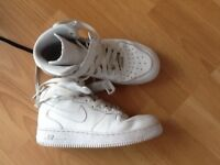 Nike airforce mid shoe size 5 available in white and black