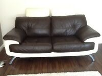 2x Leather Sofas