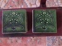 Edwardian tiles from a fire surround