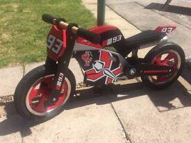 kiddimoto balance bike - superbike Marc Marquez, good condition