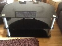 Black and chrome Tv Stand