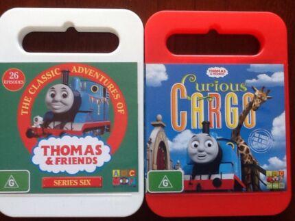 Thomas the Tank Engine DVD's, Series 6 & Curious Cargo