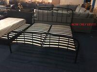 Superking Black Metal bed frame
