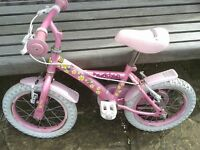 "GIRLS PINK DAISY CHAIN BIKE 14"" WHEELS SUIT 3+ AGE GROUP"